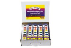 Discount School Supply - Colorations® Washable Watercolor Classroom Pack - 28 Sets - Item # WCPAK