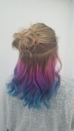 Mermaid Hair half up color