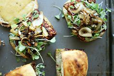 Yummy Mummy Kitchen: Vegetarian BBQ Tempeh Cheeseburgers