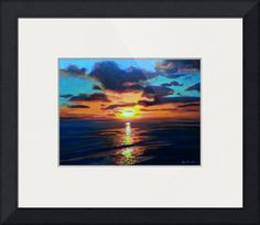 """""""Beacons Beach Encinitas Sunset by RD Riccoboni"""" by RD Riccoboni,  // Beacons Beach Sunset by RD Riccoboni. The sunset into the Pacific Ocean from the cliffs above the popular surf spot in Encinitas - Leucadia California.Beacon Artworks CollectionRD Riccoboni StudioOld Town San Diego State Historic Park // Imagekind.com -- Buy stunning fine art prints, framed prints and canvas prints directly from independent working artists and photographers."""