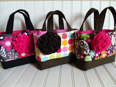 scripture totes. #sewing #bags #totes I like the flowers on these bags