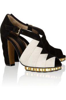 Marni Two-tone suede sandals Sapatos, Sonhos, Sapatos Dourados, Sapatos De  Marfim 8e9bdc1400