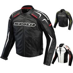 Spidi Track Leather Mens Street Riding Motorcycle Jackets