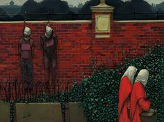 Ilustración de The Handmaid's Tale de Margaret Atwood a cargo de Brendan Totten