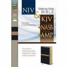 Classic Comparative Side-By-Side-NIV/KJV/NAS/AMP-B