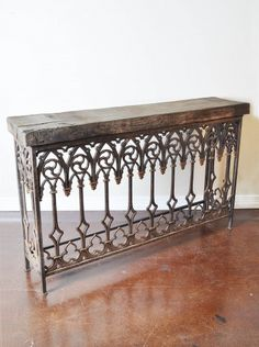 Antique Iron Console Table - $3000! Would love to DIY this for my entry.