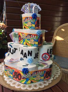 """Een """" schijt aan je leeftijd """" taart voor een jarige . Inspiratie opgedaan op Pinterest."""