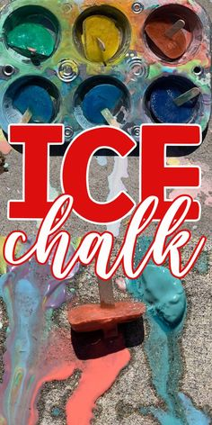 If you are looking for a SUPER fun outside activity to do with the kids then you are going to love Ice Chalk! This easy to make outside activity is a ton of fun for the kids and it gets them outside! This easy homemade sidewalk chalk is perfect to make a hot day lots of fun! Easy Diy Projects, Easy Crafts, Crafts For Kids, Outside Activities, Activities To Do, Ice Chalk, Homemade Sidewalk Chalk, Neon Signs, Hot