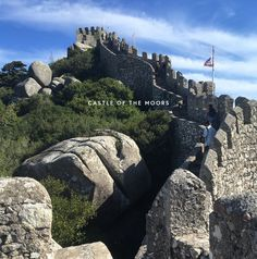 Working abroad in Spain and Portugal - Castle of the Moors, Sintra Work Abroad, Spain And Portugal, Castle, Travel, Viajes, Trips, Traveling, Forts, Tourism