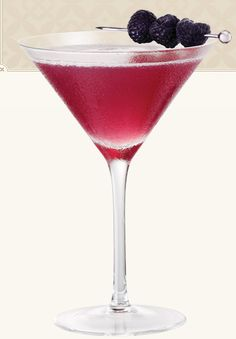Add a flair of romantic rouge to your PFW festivities with this Chambord-based martini. The famous brand of black raspberry liqueur has been satisfying thirsty taste buds since the 1600s and is said to have been introduced to Louis XIV. You Will Need: 1-1/2 ounces Chambord flavored vodka 1/2 ounce Chambord Liqueur 2 ounces pineapple juice Fresh raspberries for garnish