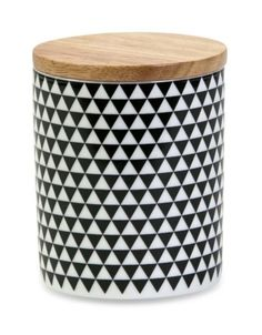 Black & White canister tall Next At Home, Gift Store, New Room, Canisters, Outdoor Furniture, Outdoor Decor, Kitchen Accessories, Things To Buy, Ottoman