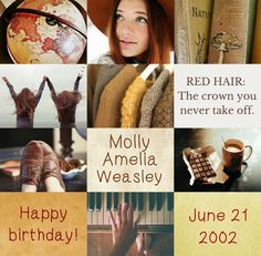 Harry Potter the Next Generation (Birthday): Molly Amelia Weasley • June 21, 2002 • Ravenclaw • Lindsay Hansen