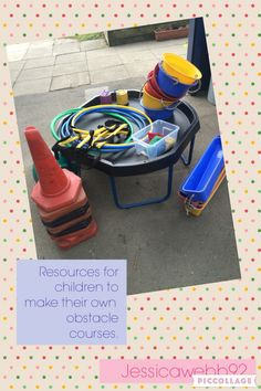 Equipment for creating own obstacles courses - link in with Loose parts area? Gross Motor Activities, Autism Activities, Gross Motor Skills, Outdoor Activities, Eyfs Outdoor Area, Outdoor Play, Physical Play, Outdoor Learning Spaces, Obstacle Courses