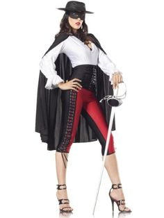Costume Adventure Womenu0027s Deluxe Sexy Zorro Costume -M/L Costume Adventure /  sc 1 st  Pinterest : women zorro costume  - Germanpascual.Com