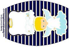 Esmalte Batizado Azul Marinho Anjinho Loiro