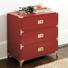 Charlotte 3-Drawer Campaign Chest | Ballard Designs