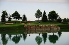 The hole at Fontana Golf Club features a treacherous lake but there is less danger Golf Clubs, Golf Courses
