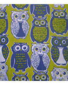 novelty owl quilt fabric from Jo-Ann