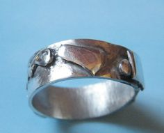 Chunky Mens 925 Silver Ring by DormouseDesigns on Etsy, £55.50