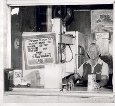 Merrill's popcorn stand was barely big enough for him to move around in his wheelchair. Albert Lea Minnesota, Jolly Time Popcorn, Popcorn Stand, Root Beer, The Rock, Great Places, Child Hood, History, Roots