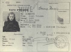 Another little face of the Holocaust: Blond, blue eyed... Anny-Yolande HOROWITZ was born on June 2, 1933, in Strasbourg. Interned in the Lalande camp near Tours and then transferred to Drancy, she was deported on convoy 31 of September 11, 1942, with her mother, Frieda, and her sister Paulette, age 7.