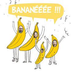 L'équipe de Popcarte vous souhaite une Bananée 2017 !! Une bonne année avec cette carte de voeux illustrée, originale et humoristique placée sous le signe de la bonne humeur avec sa couleur jaune de banane !! Mettez les photos de vos enfants et même de votre chien ;)