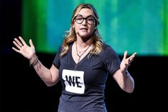 Kate Winslet makes a speech during WE Day at the Wembley Arena in London, March 22, 2017. By James Gourley/Rex/Shutterstock.