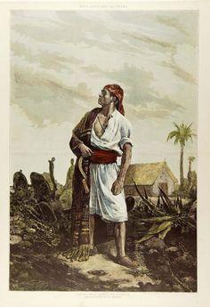 Paisano de la huerta de Valencia.  Rico,  Dibujo del natural por D. J. Benlliure , entre 1869 y 1900