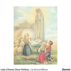 Lady of Fatima Three Children Sheep Church Fleece Blanket Lady Of Fatima, Picnic In The Park, Blessed Mother, Outdoor Events, Art Background, Three Kids, Our Lady, Vintage Images, Sheep
