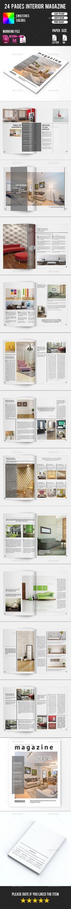 Interior Magazine Template #design #journal Download: http://graphicriver.net/item/interior-magazine-templatev07/10797082?ref=ksioks