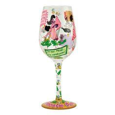 Domestic Diva Wine Glass | Hand Painted Wine Glass|Designs by Lolita | Official Lolita Store