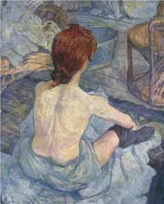 Woman at her Toil by Henri de Toulouse-Lautrec (1896)土魯斯、羅特列克「女工」