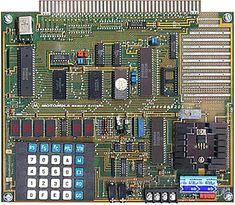 Motorola 6802 kit. My dad bought this kit for himself, but I found it in 9th grade and had my first exposure to assembler and the concept--albeit very basic--of a personal computer.