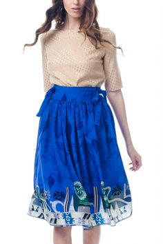 Flowing skirt made from 100% vintage silk. Made in LA. $185 on Ethical Ocean. #vintage #usamade #sustainablefashion