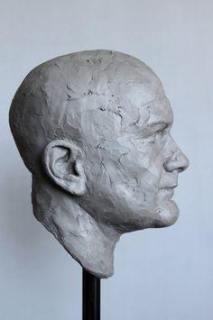 "Adam Pyś Sculpture Portrait in the clay. ""Kevin"" 2015"