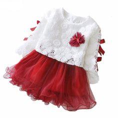 35c5423cae763 Princess Floral TuTu Dress. AutomneNouveau NéPrincesseDentelleTenueRobeCoudreTenues  Pour Petite FilleVêtements Enfants
