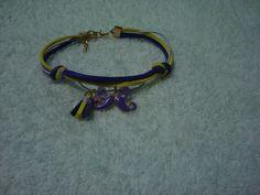 pulsera triple, morado, amarillo y lila... AB