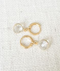 Sweet little clear quartz tear drops! #silvanasagan #jewelry #quartz #fashion #accessories #trending