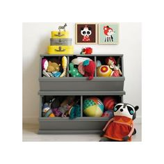 Our most popular storage item comes in a variety of rich colors.  Vegetable bins were the inspiration for our practical toy, book and game storage units.
