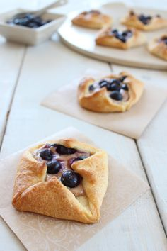 Blueberry Cream Cheese Crescent Rolls ..  These were amazing!  I will always make my own Cheese danishes from now on.. blueberries or not