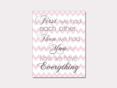 Printable Nursery Art First We had Each Other by NauticalDecorShop, $3.00
