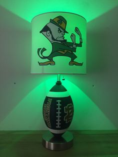 Notre Dame Football Lamp Fighting Irish Sports Light Man Cave College