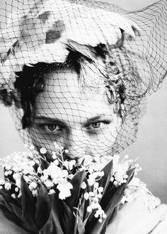 """The Wedding Party"". Sasha Pivovarova by Arthur Elgort for Vogue US June 2009"
