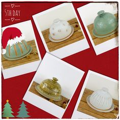 On the fifth day of Christmas my true love sent to me 5 butter dishes, 4 bathroom sets, 3 Moon Jars, 2 handheld jugs, and A penguin in a quandary