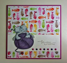 Yarnball Card for Catlover