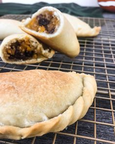 Kolokotes – traditional vegan Cypriot Pumpkin Pies filled with pumpkin, bulgur, raisins, and spices.