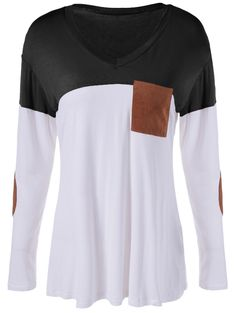 Color Block Single Pocket T-Shirt