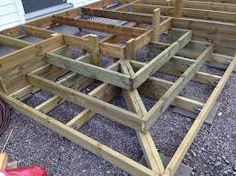 The Tools Needed When Laying Decking Outdoor Stairs, Deck Stairs, Deck Railings, Patio Steps, Steps For Deck, How To Build Porch Steps, Cool Deck, Diy Deck, Patio Deck Designs