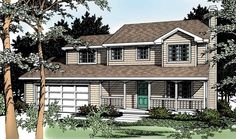 Eplans Country House Plan - Simple and Attractive Exterior - 1632 Square Feet and 4 Bedrooms from Eplans - House Plan Code HWEPL04691