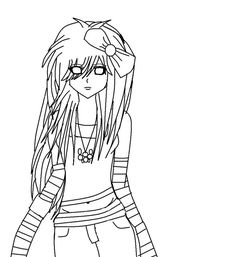 Emo Coloring Pages 2 Coloring Pages Pinterest Emo